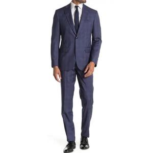 TED BAKER LONDON Jay Plaid Trim Fit Wool Suit